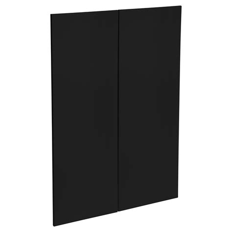 kaboodle mm black olive modern medium pantry door  pack