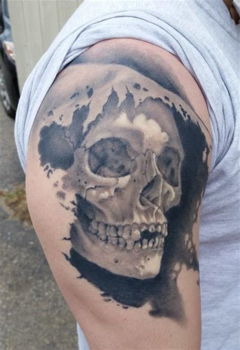 black and grey tattoo fresh vs healed powerline tattoo tattoos shane baker healed black
