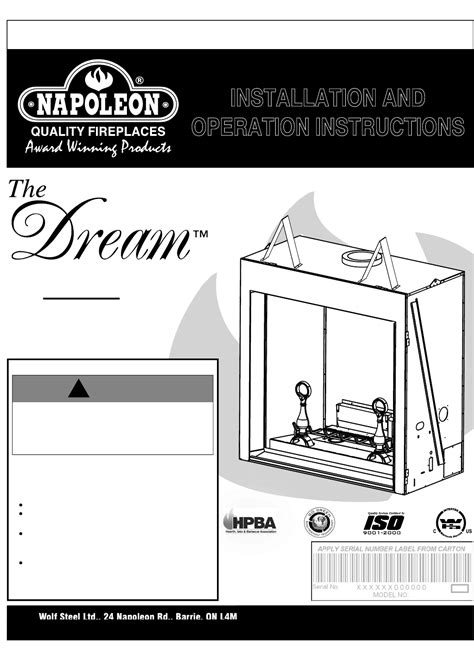 Napoleon Fireplaces Manuals by Napoleon Fireplaces Indoor Fireplace Bgd90pt User Guide