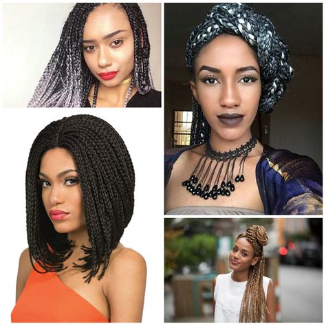 2017 latest braided hair style 2017 latest box braids hairstyles for afro american women