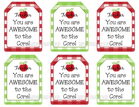 printable gift cards australia printable teacher appreciation tags teacher you are awesome
