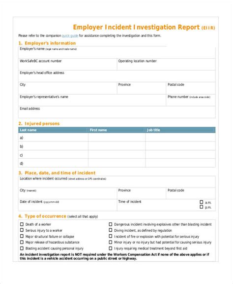 hr investigation report template sle investigation report template