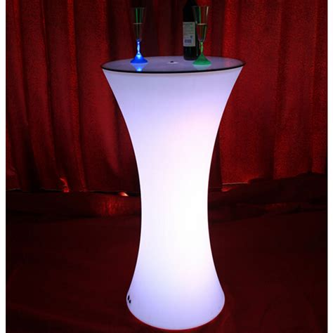 drink table bar led light up rechargeable bar drink poser table
