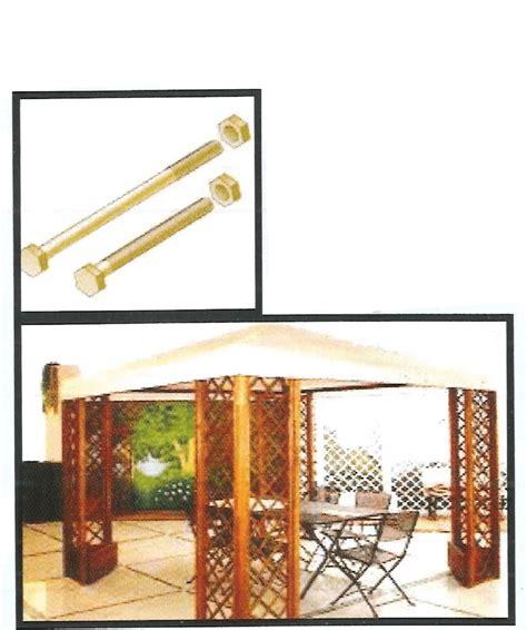 ferramenta per gazebo in legno ferramenta in kit kit per gazebo con telo