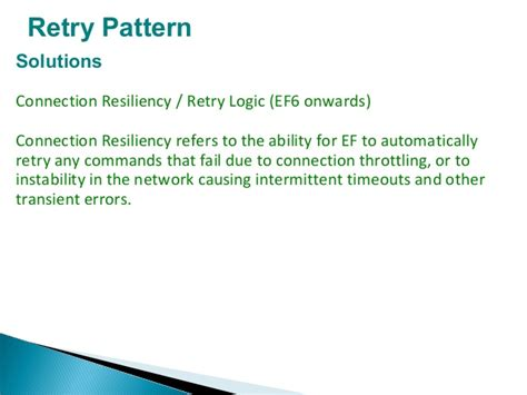 net retry pattern design patterns and plan for developing high available