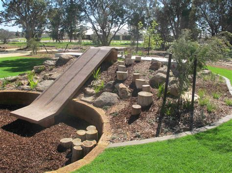 backyard off natural playscape with slide playscape ideas pinterest