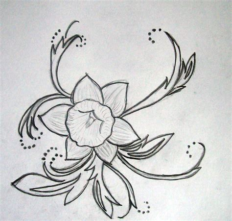 daffodil tattoo designs design daffodil by supersmeg123 on deviantart