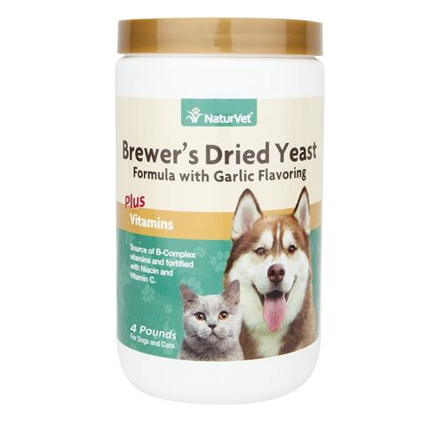 brewers yeast for dogs naturvet brewer s dried yeast formula with garlic cat powder supplement 4 lb