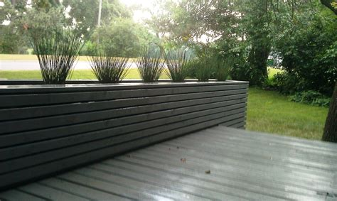 Deck Planter Plans by Large Deck Planters Iimajackrussell Garages Best Deck