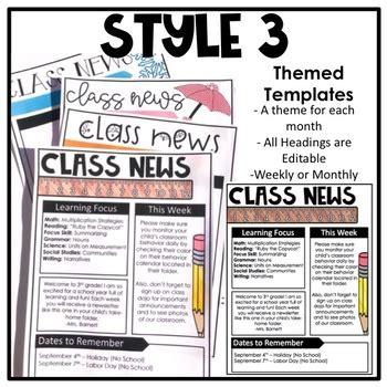 newsletter template editable  loveandlessons tpt