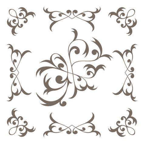 decorative frame floral swirls  transparent png