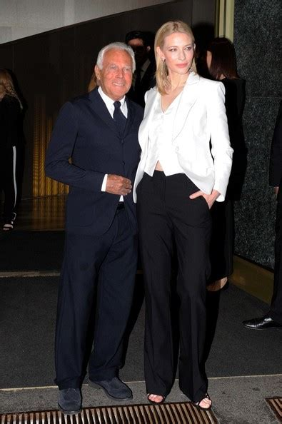 Giorgio Armani And Cate Blanchett Attend Armani Ginza Towers Light Up Ceremony by Cate Blanchett Photos Photos Giorgio Armani And Cate