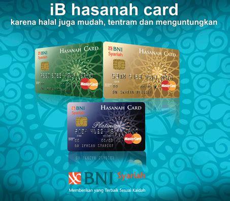 Hasanah Card By Kartu Kredit Bni sehat perkasa bni syariah hasanah card