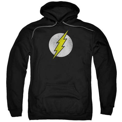 Flash Hoodie flash logo distressed pullover hoodie