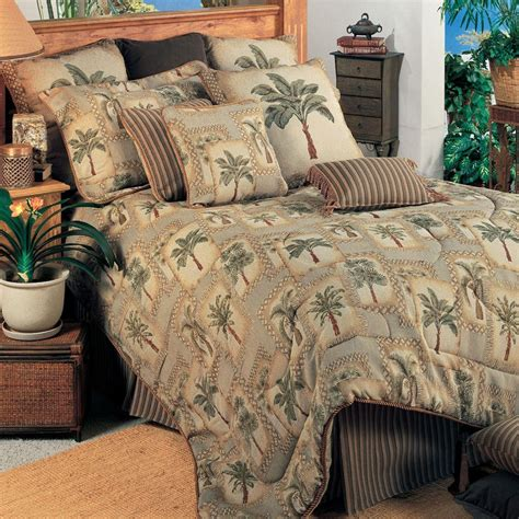 palm tree comforter sets palm grove tropical palm tree comforter bedding