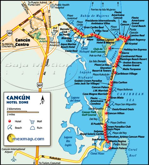 map of cancun mexico cancun mexico hotel map