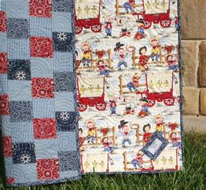 Western Quilts Western Baby Quilt Cowboy Blanket Bandana Patchwork