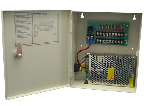 Power Supply 10 A Power Supply 10a Cctv professional 12v dc 10a 9 channel boxed cctv power supply unit miecctv co uk