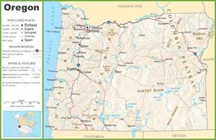 oregon large map oregon highway map