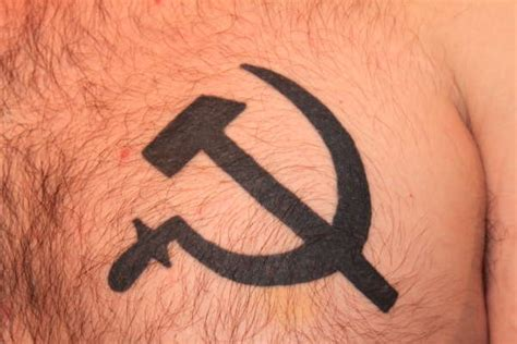 hammer and sickle tattoo hammer and sickle