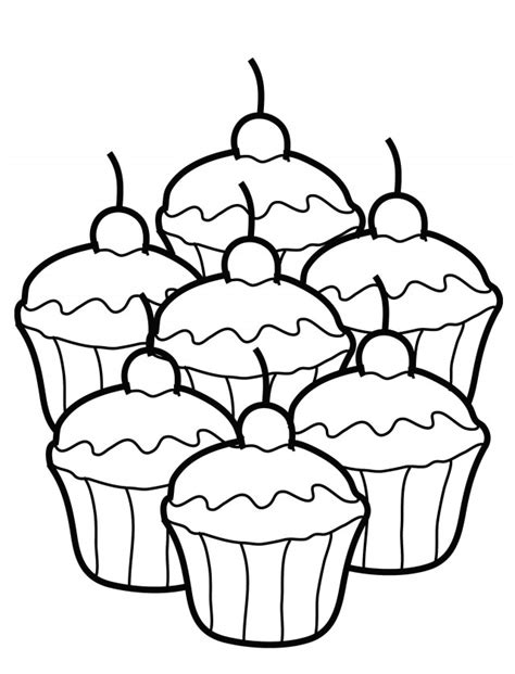 cupcake color page az coloring pages