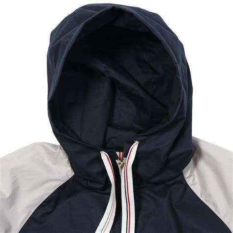 multi colored windbreaker multicolor hooded zip windbreaker with ribbed hem