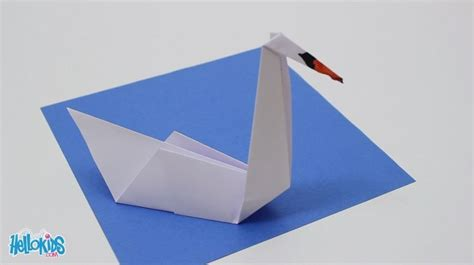 swan paper craft how to craft origami swan hellokids