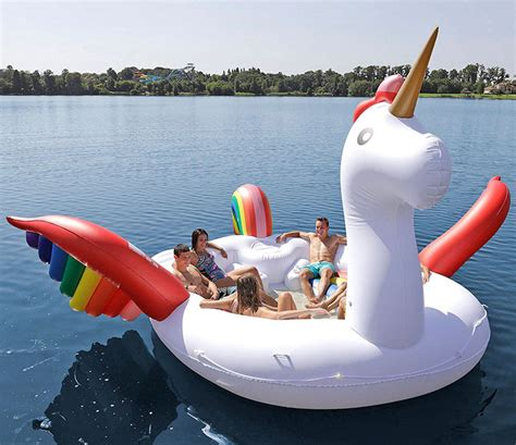 fitting up to six people these giant unicorn floats are - Floating Boat Unicorn