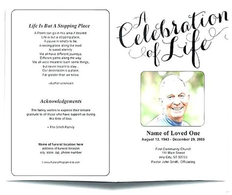 funeral handouts template funeral handouts template luxury and celebrating the funeral program template free
