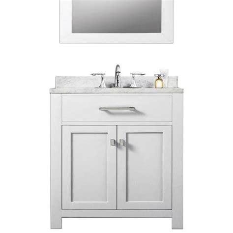 madison bathroom vanities madison pure white 30 inch single sink bathroom vanity