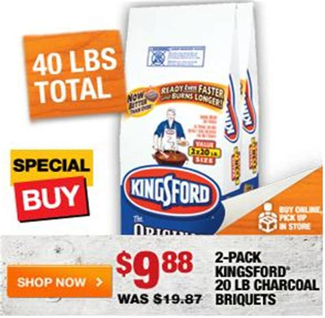 home depot 40 lbs kingsford charcoal 9 88 free in store