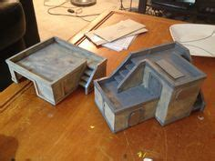 foamcore building templates warmachine wargames