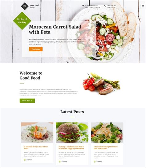 food receipt template free 17 food recipes website themes templates free