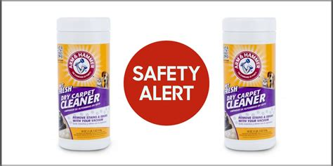 rug cleaner products carpet cleaning powder recalled due to bacteria contamination