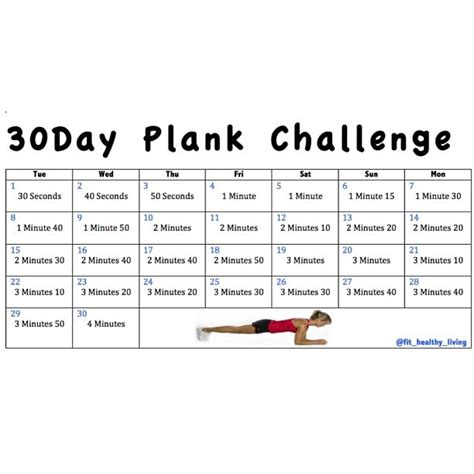 Calendar 30 Days From Today 30 Day Plank Challenge Who S In We Re Starting Our 30day