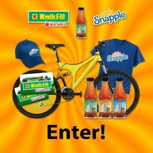 Kwik Fill Sweepstakes - kwik fill snapple straight up tea giveaway thrifty momma ramblings
