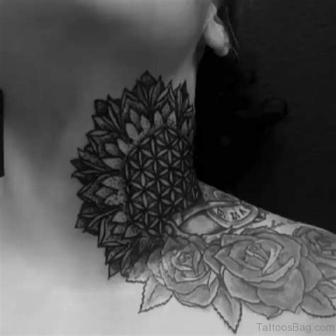 mandala neck tattoo 86 awesome mandala tattoos on neck
