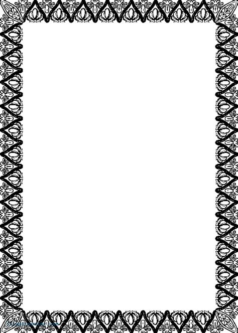 islamic pattern border islamic border designs clipart best