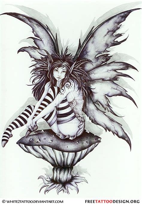 black fairy tattoo designs evil on design