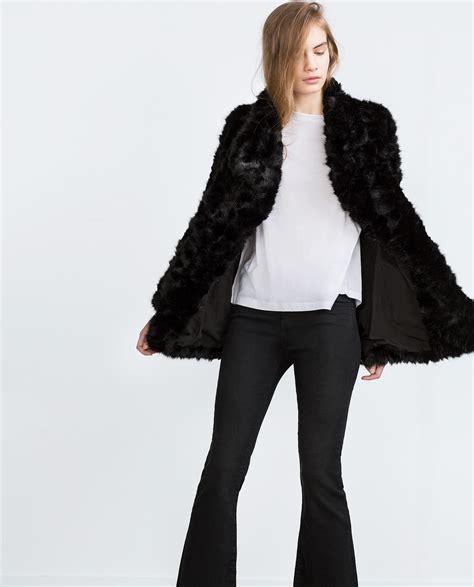 Fur Basic Dress zara faux fur coat in black lyst