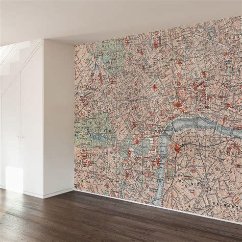 londoner map wall mural decal 100 quot l x 100 quot w walls need
