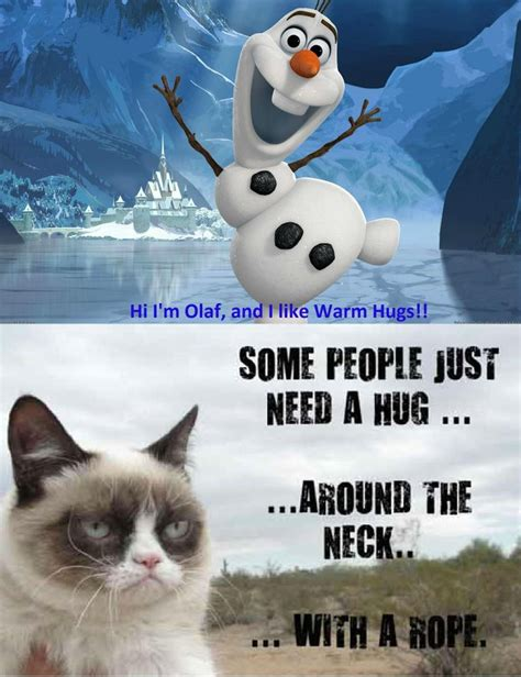 Olaf Meme - olaf hug funny pictures quotes memes jokes