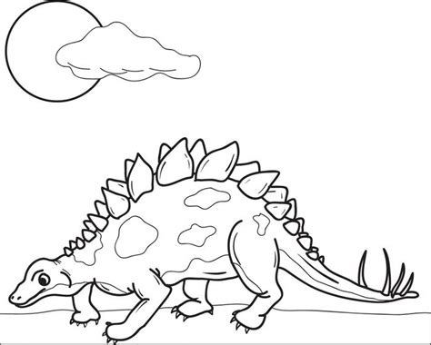 stegosaurus free colouring pages