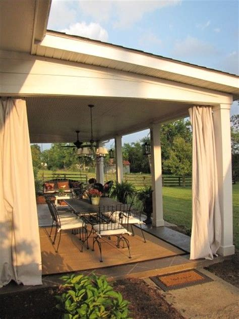 screened porch makeover rough concrete floor 25 best ideas about patio curtains on pinterest outdoor