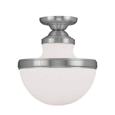 livex lighting providence 1 light ceiling brushed nickel