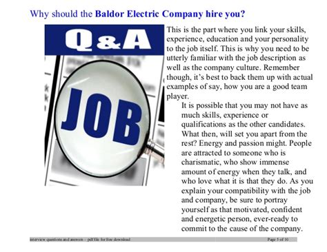 Boeing Mba Internship by Baldor Electric Company Questions And Answers