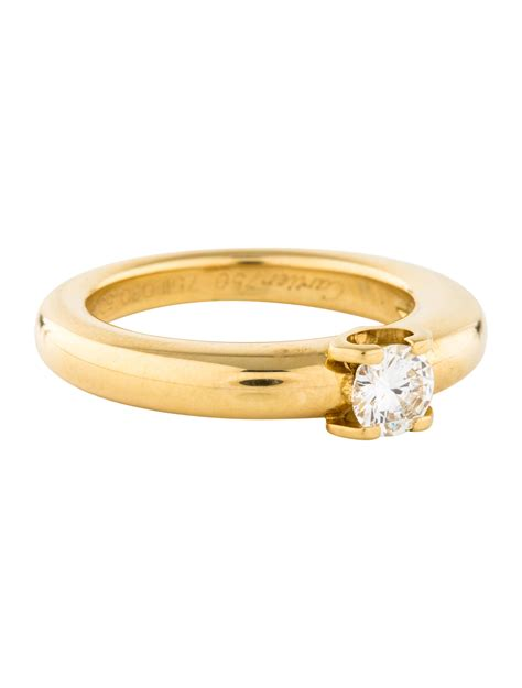 cartier c de cartier diamond engagement ring rings crt33563 the realreal