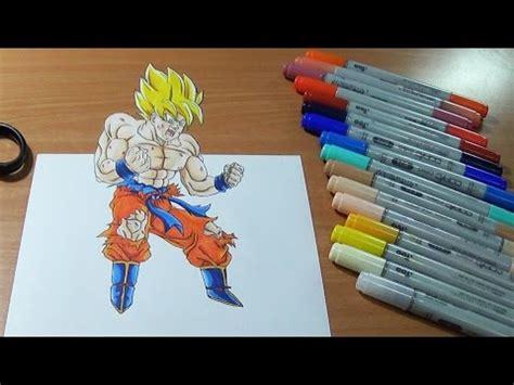 imagenes de goku en 3d 3d drawing dragon ball z goku spirit bomb dibujo 3d