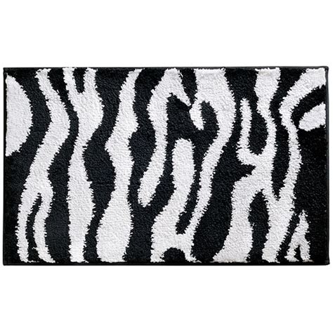 zebra rugs walmart interdesign zebra black and white bath rug walmart