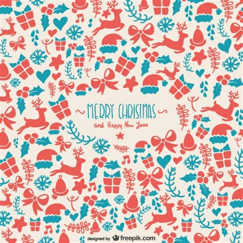 retro christmas pattern vector free background pattern for christmas vector free download